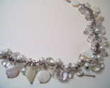 Necklace mop white pearls clear glass beads  1  thumb155 crop