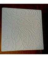 DRAGON Spitting Fire  Duel Use Texture Tile Slump Fusing stained glass mold - $15.05