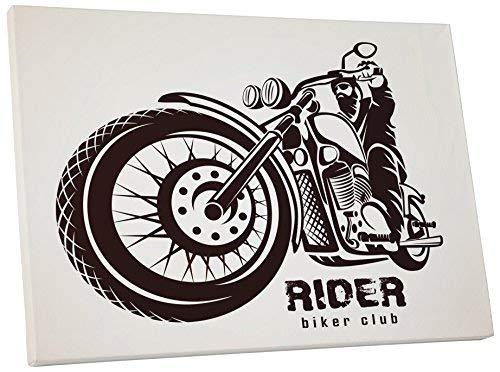 "Primary image for Pingo World 0725QQV0LPG ""Rider Biker Club Motorcycle"" Gallery Wrapped Canvas Wal"