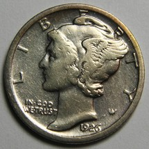 1926S Mercury Silver Dime 10¢ Coin Lot# EA 47