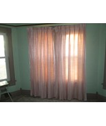 Vintage Chic Sears Shabby Pink Cottage Drapes four Curtain Panels Romant... - $130.00