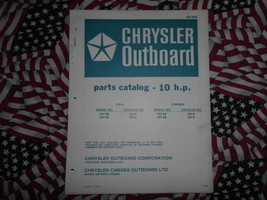 Chrysler Outboard 10 HP Parts Catalog 102 103 HB B - $19.79