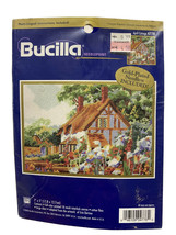 Bucilla 2000 APRIL COTTAGE  4778 Needlepoint Kit Gold-Plated Needle SEAL... - $14.09