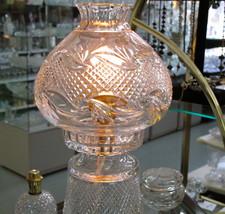 Hand cut Glass 24% lead crystal lamp 2 part - $120.27