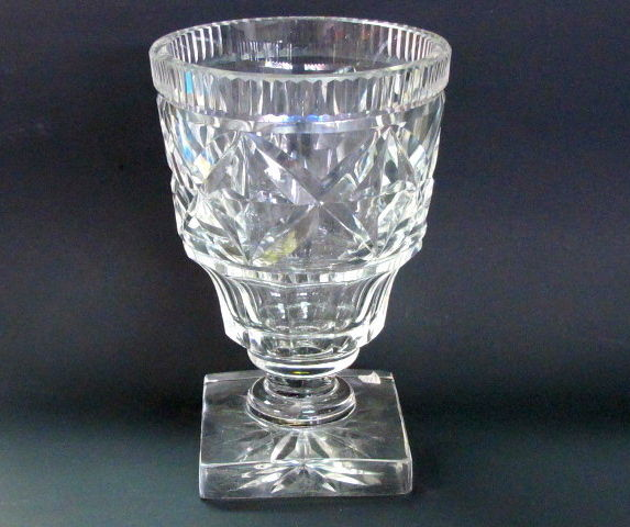 Old Cut Glass Vase Antique Crystal Square And 50 Similar Items