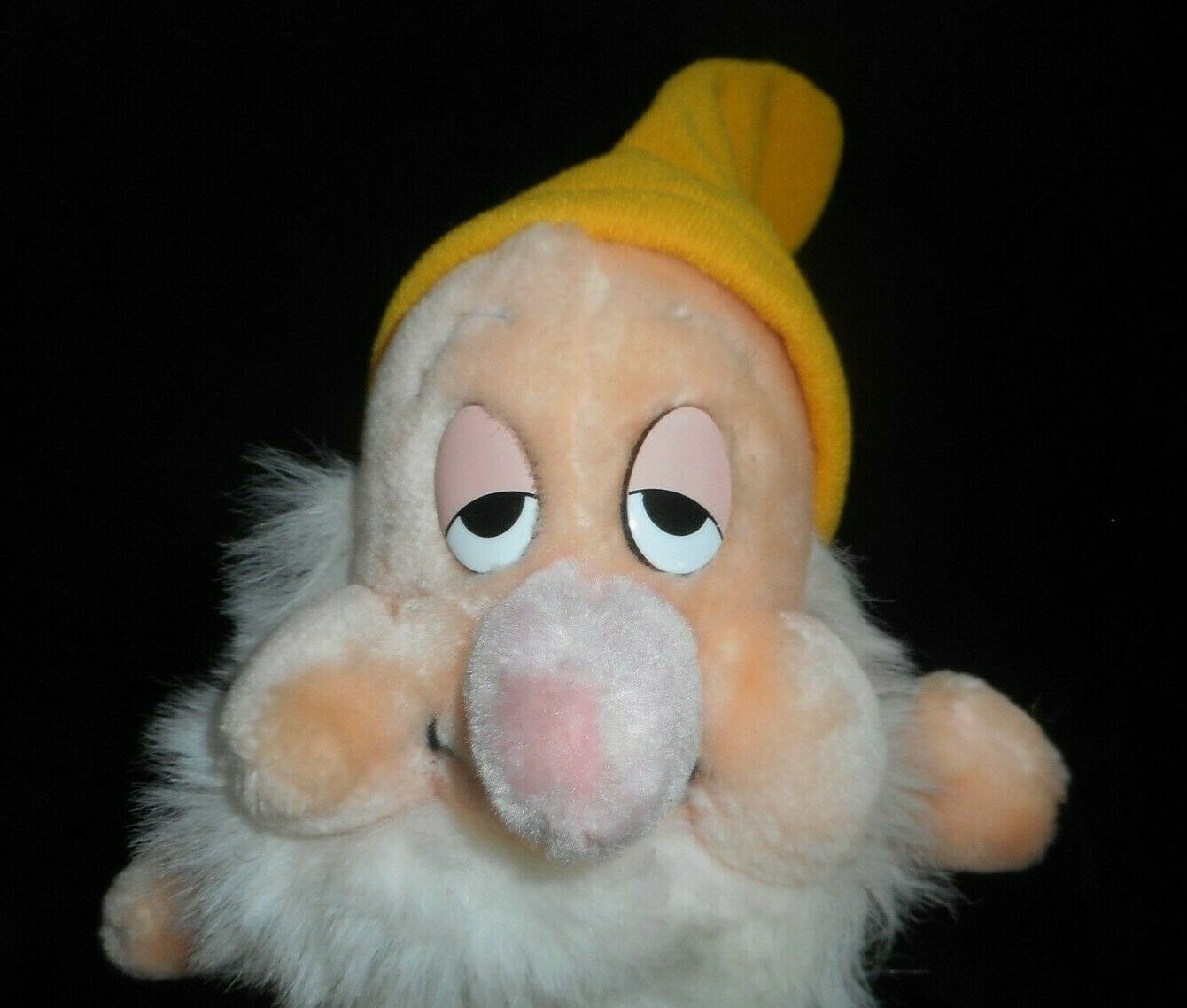 "7"" VINTAGE DISNEY SLEEPY SNOW WHITE 7 SEVEN DWARFS STUFFED ANIMAL PLUSH TOY DOLL"