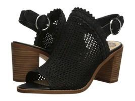 Vince Camuto Tricinda Laser Cut Slingback Block Heel Sandals, Multip Sizes Black - $99.95