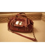 Croco Embossed Leather Satchel Red - $40.00