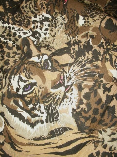 SAFARI AFRICAN  Animal Elephant Giraffe Quilt Upholstery Scarf Sew Tiger  Fabric