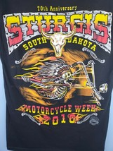 DELTA PRO WEIGHT T SHIRT 2010 STURGIS 70th ANNUAL BLACK HILLS RALLY MENS... - $16.81