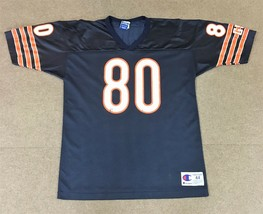 VTG Champion Curtis Conway Chicago Bears NFL Jersey #80 Navy Blue Adult 44/Large - $27.71