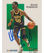 David Robinson Signed Autographed 1992 Courtside Basketball Card - Navy - $19.99