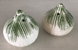 "Salt Pepper Shakers Garlic Onion Shape 2.5"" Tall - $9.74"
