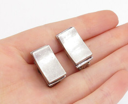 925 Sterling Silver - Vintage Minimalist Smooth Non Pierce Earrings - E9689 - $56.15