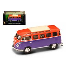 1962 Volkswagen Microbus Van Bus Orange/Purple 1/43 Diecast Car by Road ... - $22.66