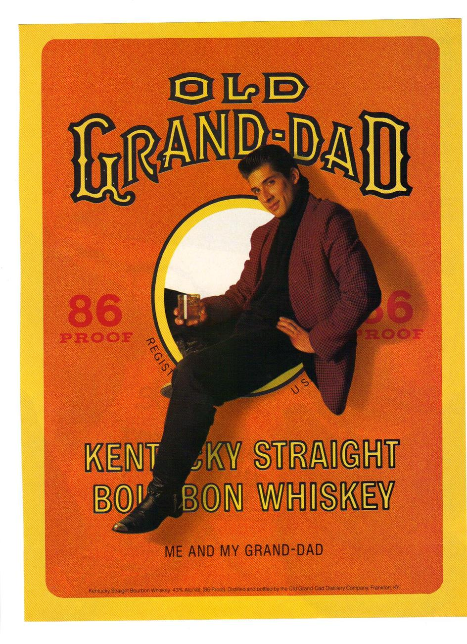 Old Grand Dad, Kentucky straight bourbon 1988 ad.