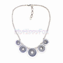 Lucky Brand Antiqued Silver Tone Multi Tribal M... - $24.99