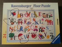 "Ravensburger ALPHABET Floor Puzzle 24 Pieces 24""x36"" Age 2+ Pre-owned Complete - $9.47"