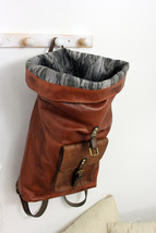 ROLL BACKPACK handmade leather & canvas backpack image 8