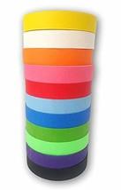 Colored Masking Painters Craft Tape Jumbo 11 Pack - Extra Long Premium R... - $32.45