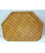 Vintage Camtray Cambro Manufacturing Lunch Room Faux basket weave - $15.89
