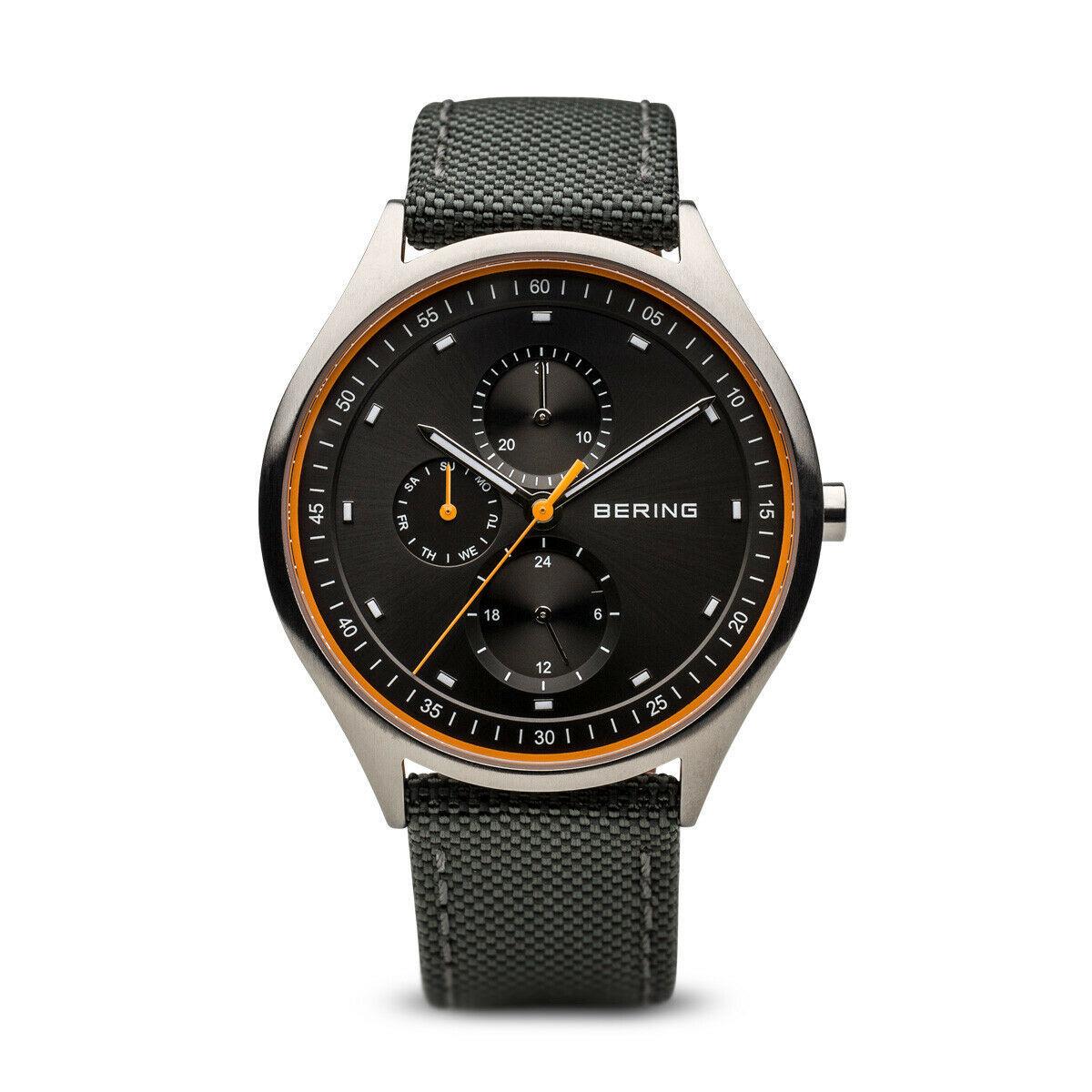 BERING Time Men's Titanium Collection Nylon Strap Watch 41mm - 11741-879