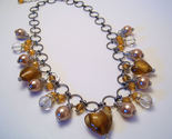 Necklace gold sea shell pearls clear glass beads azure thumb155 crop