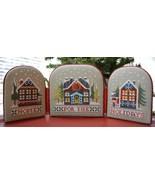 Wreath House & Home for the Holidays Neighborhood cross stitch Hands On ... - $7.65