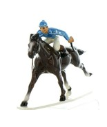 Hagen Renaker Specialty Horse with Jockey Racing Ceramic Figurine - $36.96