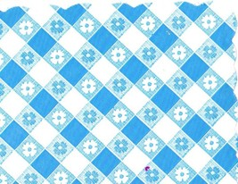 48 Plastic Scalloped Placemats Dinner Size Place Mats Blue Gingham - $8.90