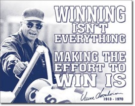 Vince Lombardi Winning Metal Sign Tin New Vintage Style USA  #1961 - $10.29