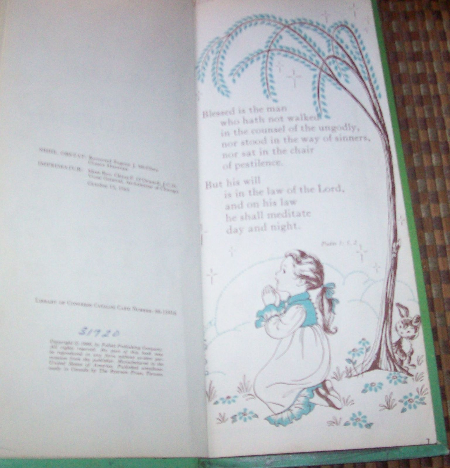 Psalms for Children by Edith Lowe 1966 HB