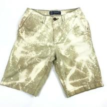 American Eagle Custom Bleached Khaki Longboard Chino Shorts Casual Front Board - $24.70