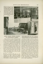 1919 Magazine Article New Bank Guard Armored Turret Box Chicago Robbery ... - $9.99