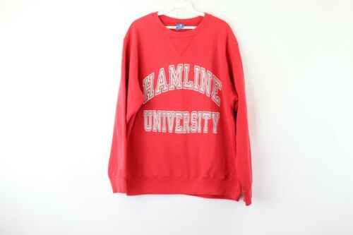 Primary image for Vintage 80s Champion Mens Large Hamline University Spell Out Crewneck Sweatshirt