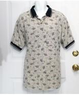New Sz XL K.T. Golf Mens Beige w/Navy Trim Mix Cotton Blend SS Polo Rugb... - $8.99