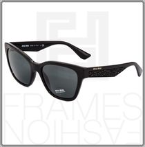 MIU MIU PAVE EVOLUTION MU 06R Square Black Rock 1AB-1A1 Sunglasses MU06RS Women image 9