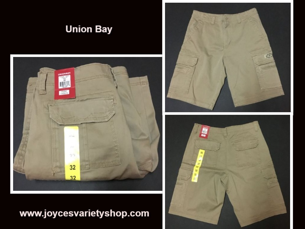 Union bay dark khaki shorts web collage