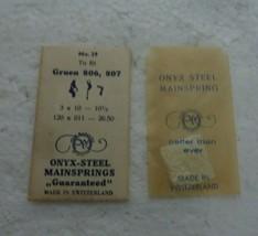 NOS PM Onyx-Steel Watch mainspring No 29 Gruen 806 807   S-58 - $9.74