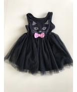Zunie Girls Size 3T Tulle Black Cat Kitty Metallic Dot Tulle Dress Costume - $19.77
