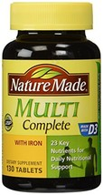 Nature Made Multi Complete with Iron, 130 Tablets pack of 3 - $34.35