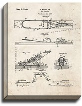 Ski Binding Patent Print Old Look on Canvas - $39.95+