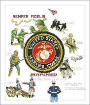 Marines cross stitch chart Vickery Collection  - $8.10