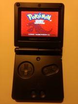 Black Nintendo Game Boy Advance SPAGS-101(Brighter) w Pokemon Ruby & Ch... - $95.77