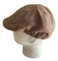U.S Polo Assn. Gatsby Newsboy Cabbie Brown Plaid Hat Cap OSFM - $14.86