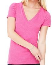 Gold Toe Premier Anywear Ladies Triblend Shirt Sz XL Heather Hot Pink V ... - $9.88