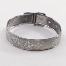 "7"", Vtg Hayward Sterling Silver Bracelet, 925 Belt bangle Embossed Grape... - $32.60"