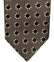 Vintage Floral Geometric Pattern Ermenegildo Zegna 100% Silk Tie - $89.05
