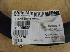 WEIR Minerals - Intake Joint Ring - G10060S01 - $20.00