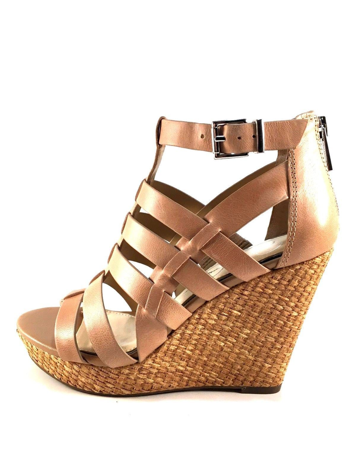 Jessica Simpson Jeyne Leather Platform Wedge Closed Back Sandals Choose Sz/Color